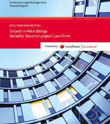 Growth in M&A Billings Benefits 'Second Largest' Law Firms