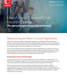 LexisNexis CounselLink Health Check