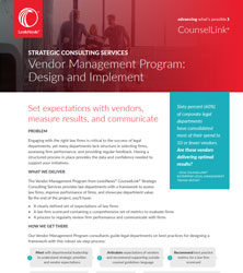 Vendor Management Program: Design and Implement