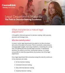 Legal Department Maturity